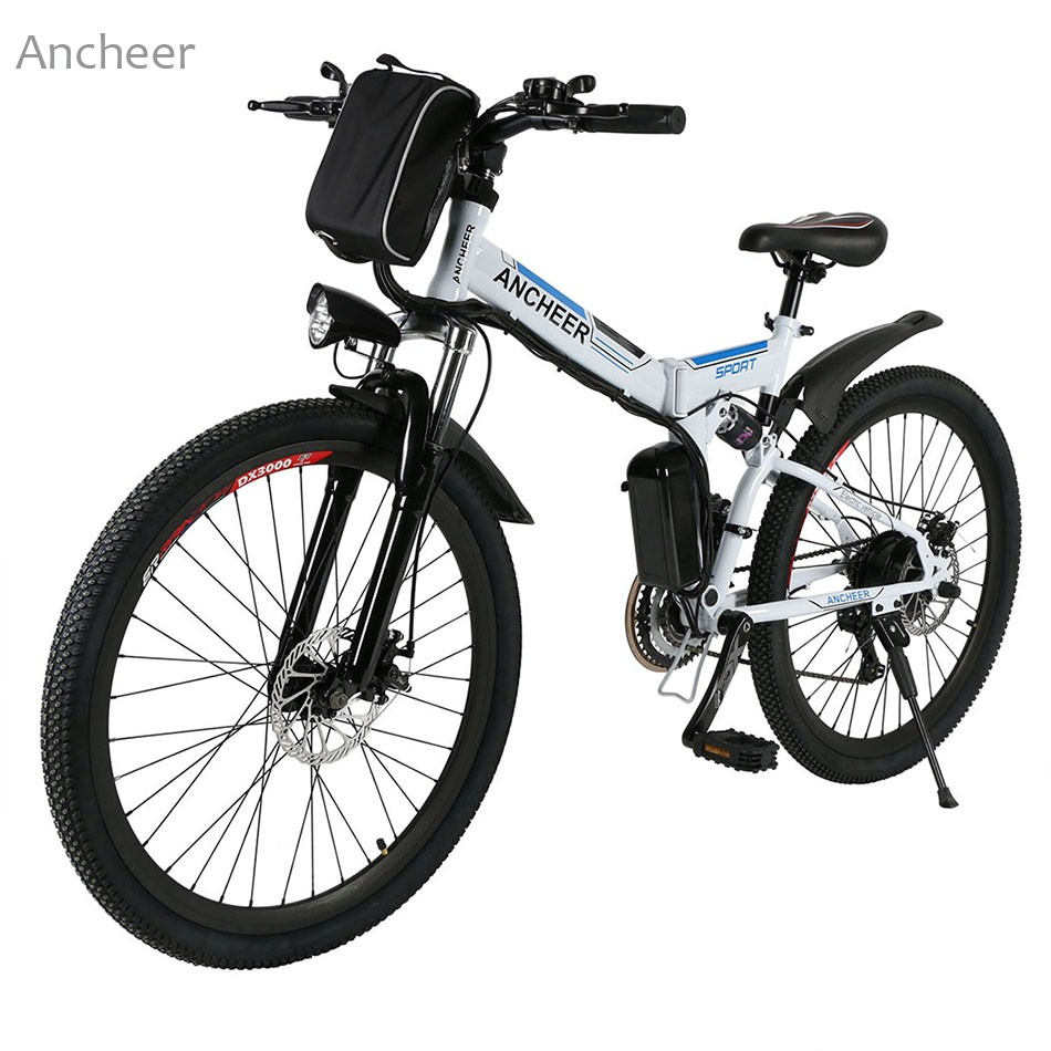 ANCHEER New Electric Bike 26'' Mountain Bike 36V Foldable Electric Power Mountain Bicycle With Lithium-Ion Battery Ebike E-bike