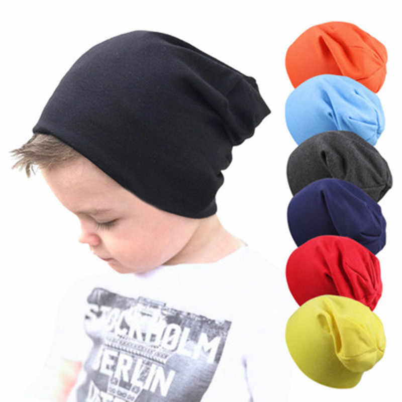 Baby Knitted Cap Street Dance Hip Hop Hat Spring Autumn Baby Hat for Boys Girls Beanie Cap Winter Warm Solid Color Children Hat