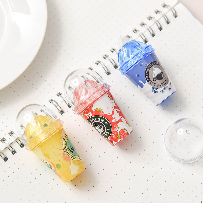 Image 5 - 12pc/lot Milk tea cup Ice cream correction tape / cute correction tape / students creative stationery/office supplies/giftCorrection Tapes   -