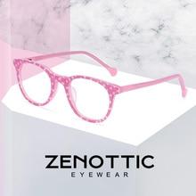 ZENOTTIC Acetate Anti Blue Light กรอบแว่นตาสำหรับเด็กเด็กเด็กสาวสำหรับเล่นเกมคอมพิวเตอร์สายตาสั้นแว่นตา