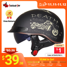 Gxt dot認定レトロオートバイヘルメットモトヘルメットスクーターヴィンテージハーフフェイスバイカーバイククラッシュモトヘルメットcascoモト