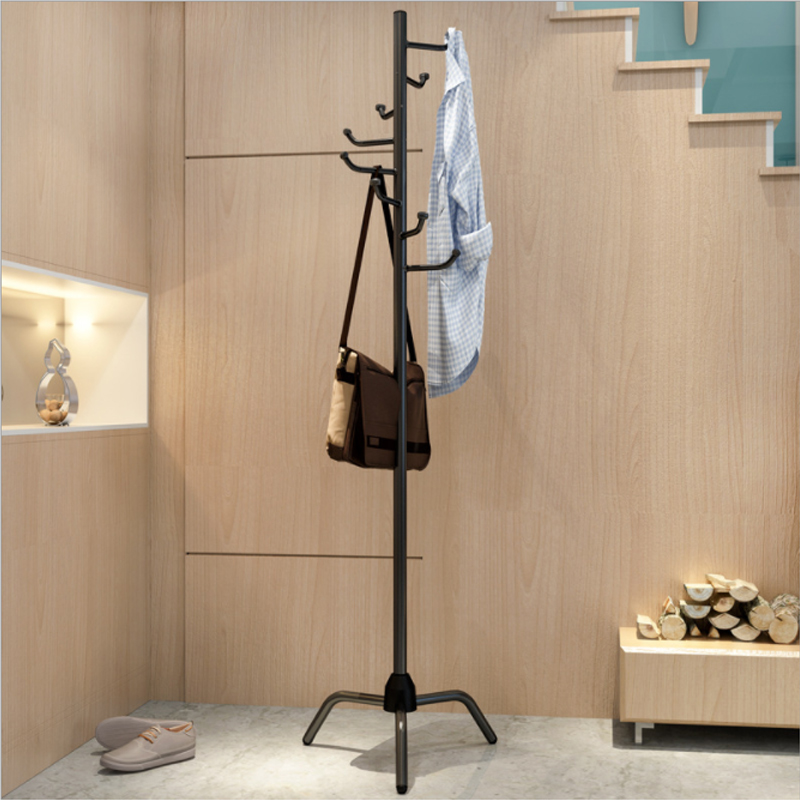 Multi-function Floor Hanger Home Bedroom Coat Hanger Clothes Rack Living Room Creative Clothes Rack Standing Coat Rack