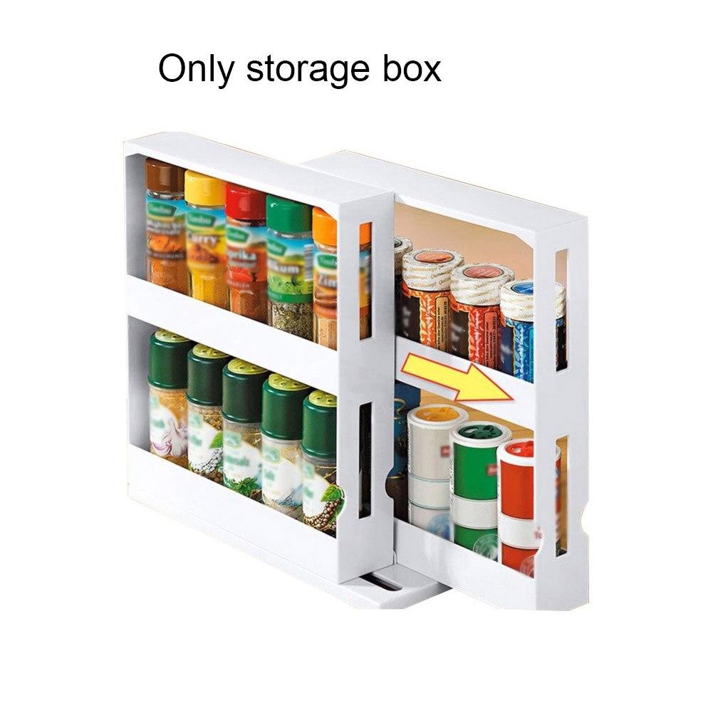الدورية الجرف خزانة مطبخ حديث تخزين الرف الشريحة كبيرة PP المنزل زجاجة توابل حامل سطح المكتب خزانة التوابل المنظم