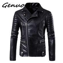 цены New Brand Jacket Punk Multi Design Style Motorcycle Biker Leather Jacket Men Fashion Skull Leather Coats Male Bomber Jacket 5XL