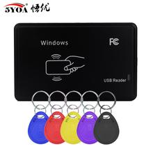 RFID Duplicator Reader Cloner 125KHz EM4100 Copier Writer Programmer 5 Pcs EM4305 T5577 Rewritable ID Keyfobs Tags Card