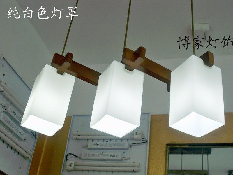 Chinese Japanese  Led wood glass lampshade Chandelier  Restaurant dining room lamp e27 110-220v