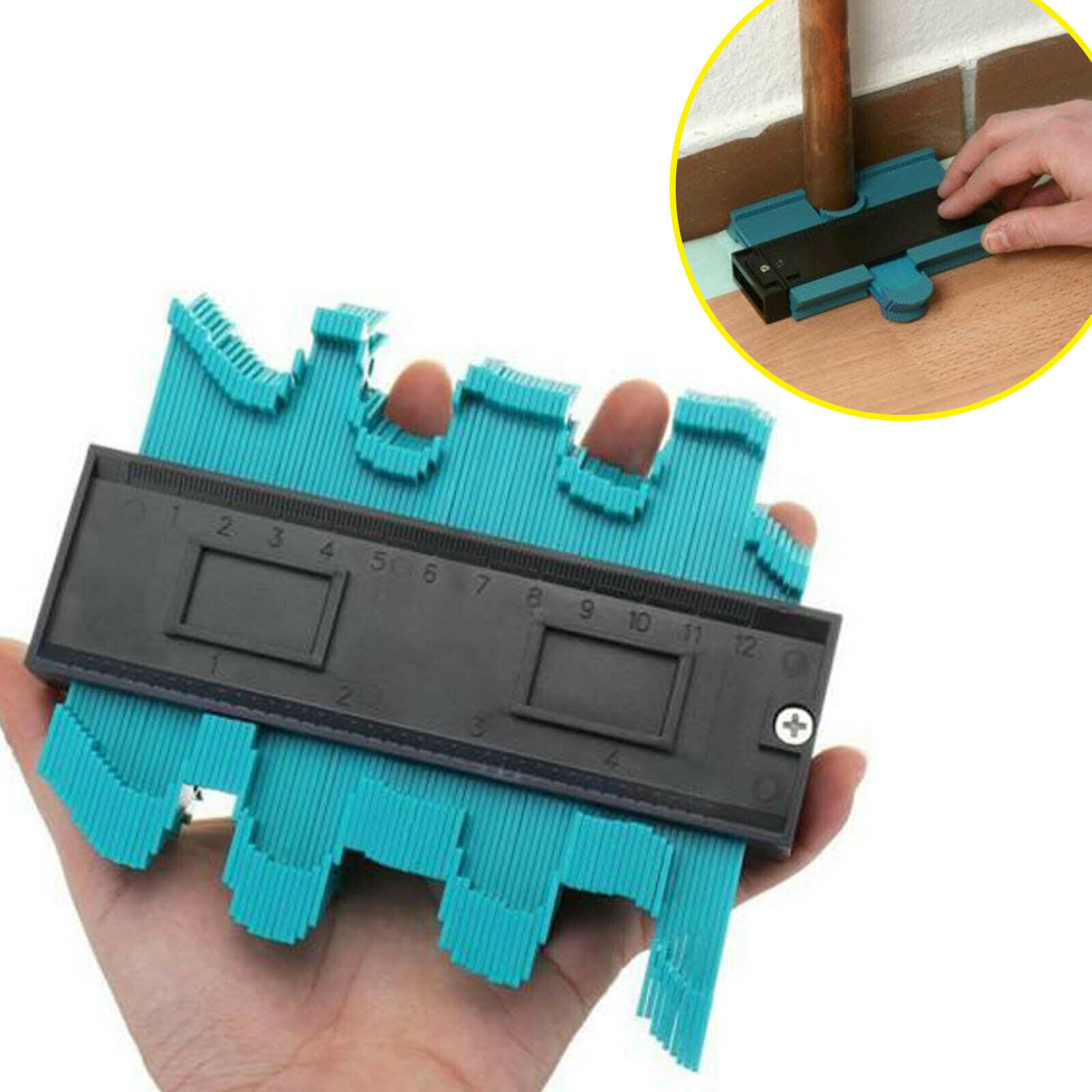 Plastic Gauge Contour Profile Copy Gauge Duplicator 5 Width Wood Marking Tool Set Tiling Laminate Tiles General Tools