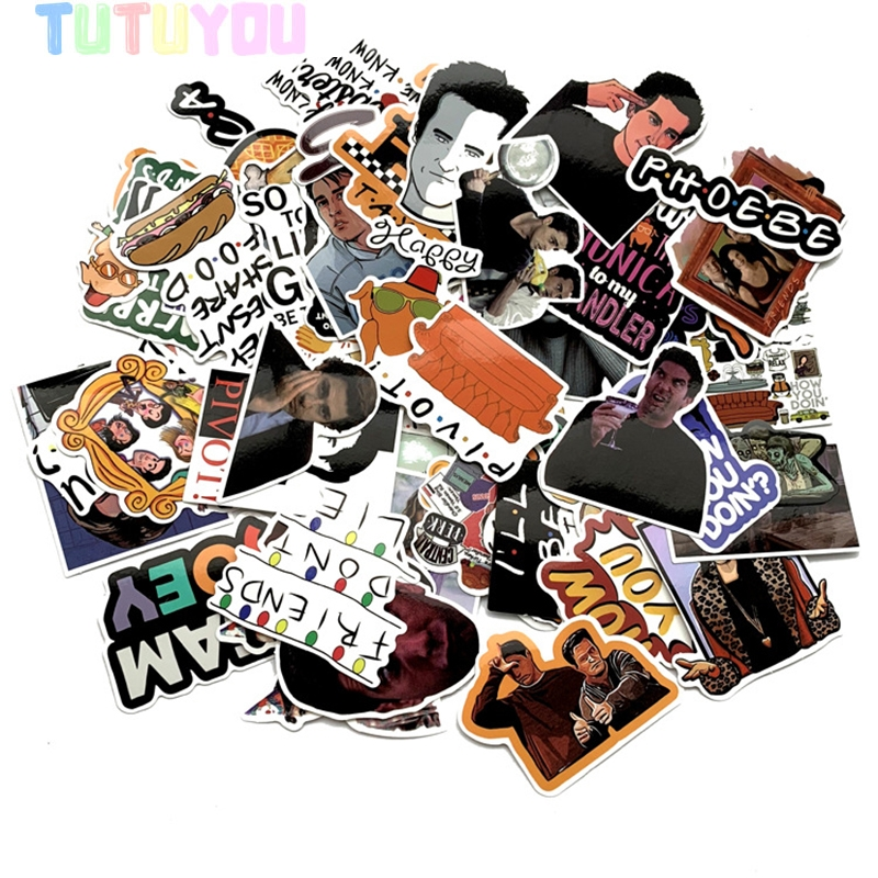 PC12 Wholesale 20set/lot 66pcs/set Best Friend TV Show Scrapbooking Stickers Decal For Laptop Luggage Car Graffiti Decal Sticker