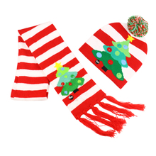 Winfox New Christmas Knit Hat knitted Scarf Pom Pom Hat Unisex Warm Beanie Cap Warm Winter Hats Scarf For children все цены