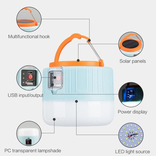 открытый кемпинг светильник солнечный светодиодный светильник фотография