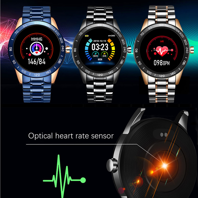 LIGE 2020 New Smart Watch Men LED Screen Heart Rate Monitor Blood Pressure Fitness tracker Sport Watch waterproof Smartwatch+Box 5