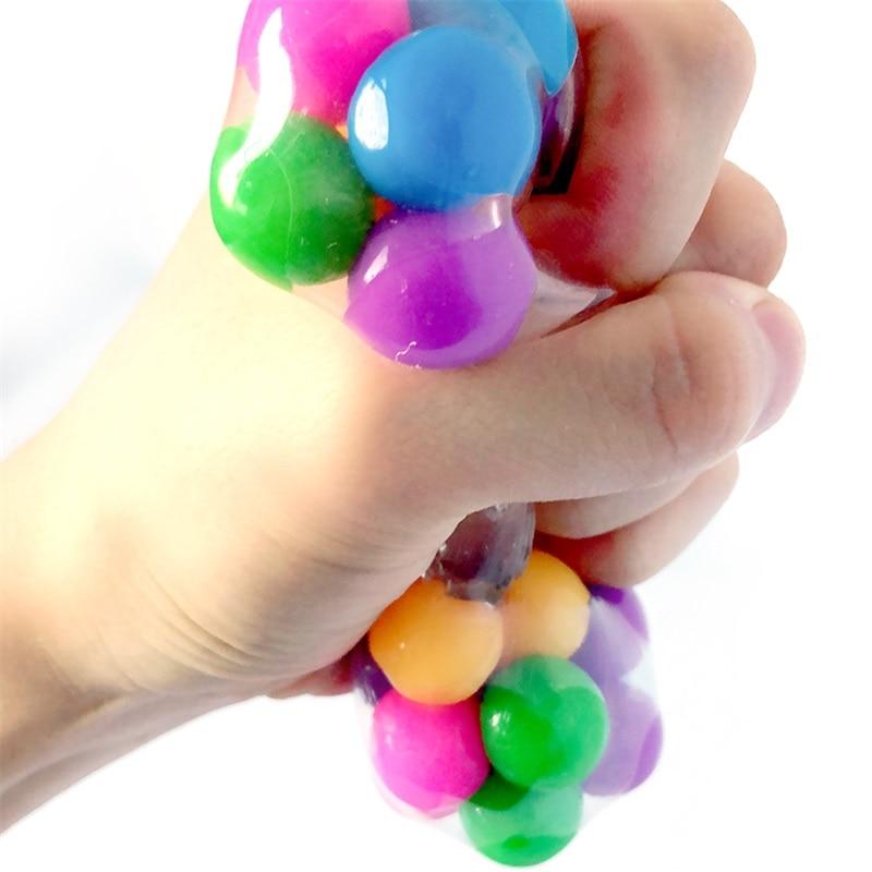 Красочный шар для снятия стресса, для снятия стресса, для детей, для детей, на Рождество