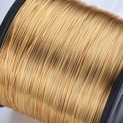 1 rollo 0,3/0,4/0,5/0,6/0,8mm 14K alambre relleno oro manualidades hilo cuentas metal de alambre de latón para joyería de oro que hace pendiente DIY