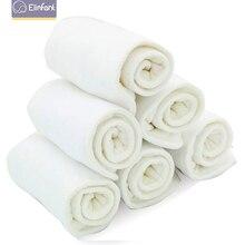 Elinfant 10 chiếc 3 lớp vải sợi nhỏ bỉm lắp siêu thấm hút 35x13.5cm phù hợp với bé vải bỏ túi tã