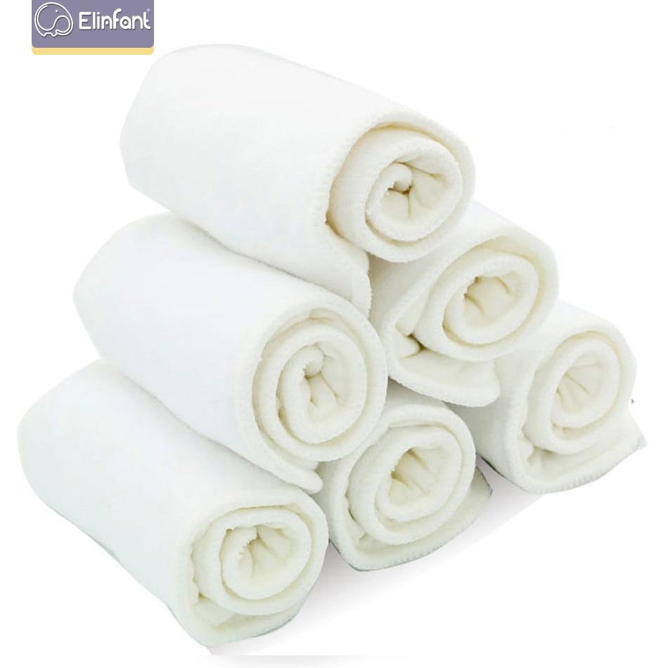 Elinfant 10 шт 3 слоя микрофибры ткань пеленки вкладыш в подгузник супер абсорбент 35x13,5 см подходит для детской ткани карманные подгузники
