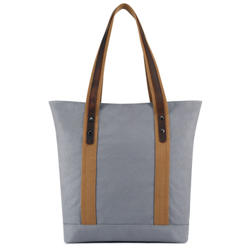 New solid brief Large capacity Canvas shoulder bags vintage shopping bags for women  purses and handbags  Casual  Canvas bags
