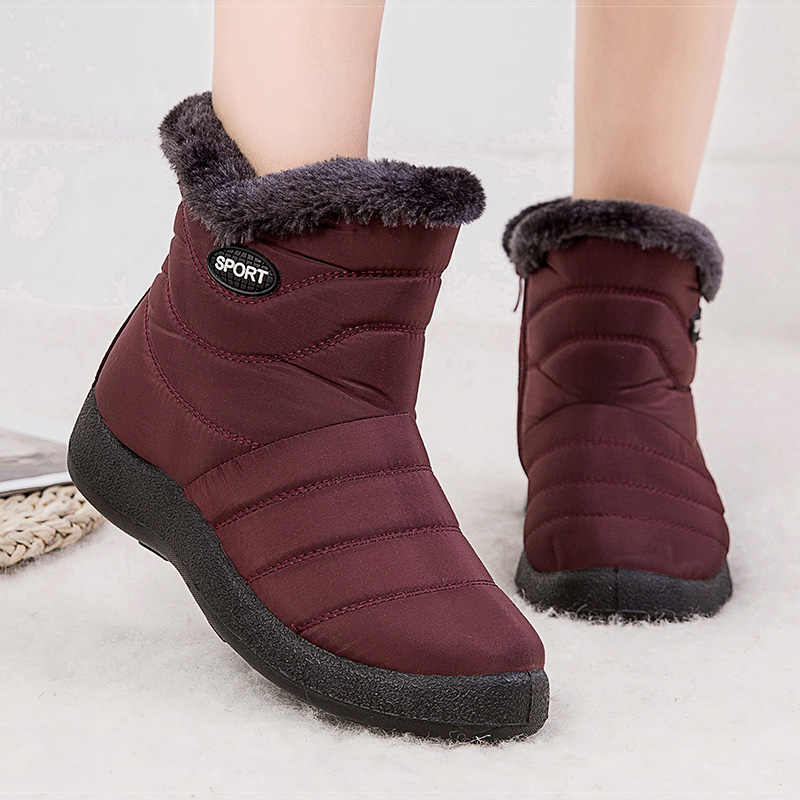 Women Boots Super Warm Snow Boots For Winter Shoes Women Casual Ankle Botas Mujer Waterproof Winter Boots Female Booties