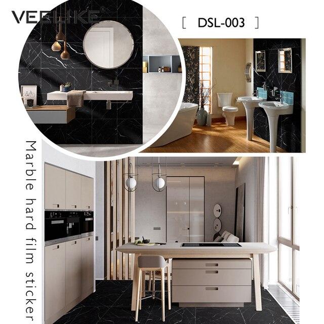 PVC Waterproof Marble Floor Tile Decals Vinyl Self Adhesive Film Non-Slip Floor Stickers Bathroom Living Room Decor Wall Sticker 3
