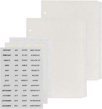 A5 12 Label Binder Separator With Label Sticker Label 6 Ring A5 Plastic Binder Index Separator Translucent 24 PIECE SET