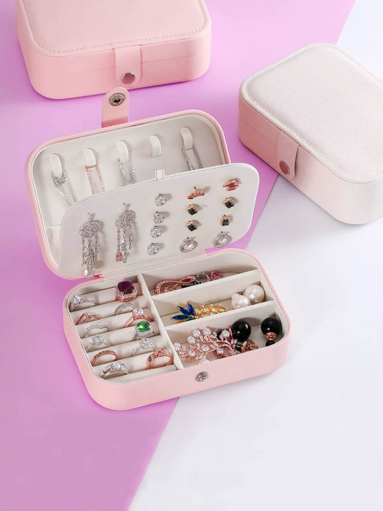Jewelry Casket Necklaces Storage-Box Ring Comestic Travel Portable Celldeal Lady