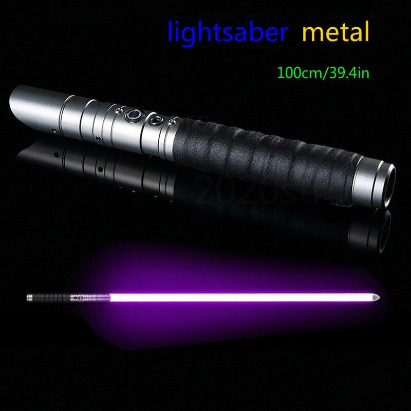 Lightsaber Jones 11 Color Metal Lightsaber RGB Laser Boys And Girls Star Wars Force Color Changing Sound Toy Lightsaber Sabre