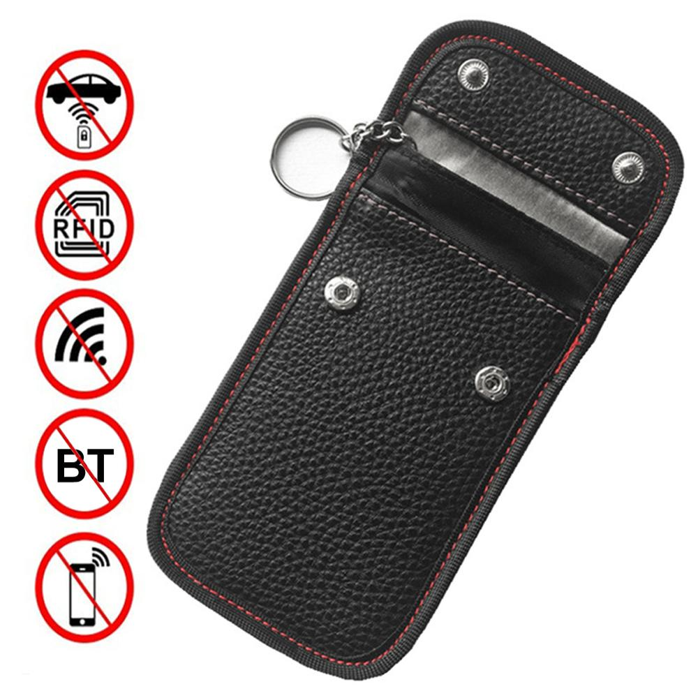 Car Key Storage Case RFID Signal Blocker Case Bag Signal Blocking Shield Case Anti-hacking Protector Pocket Car Key Tool 1