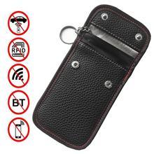 Araba anahtarı saklama kutusu RFID sinyal engelleyici çantası sinyal engelleme koruyucu kılıf Anti hacking koruyucu cep araba anahtarı aracı