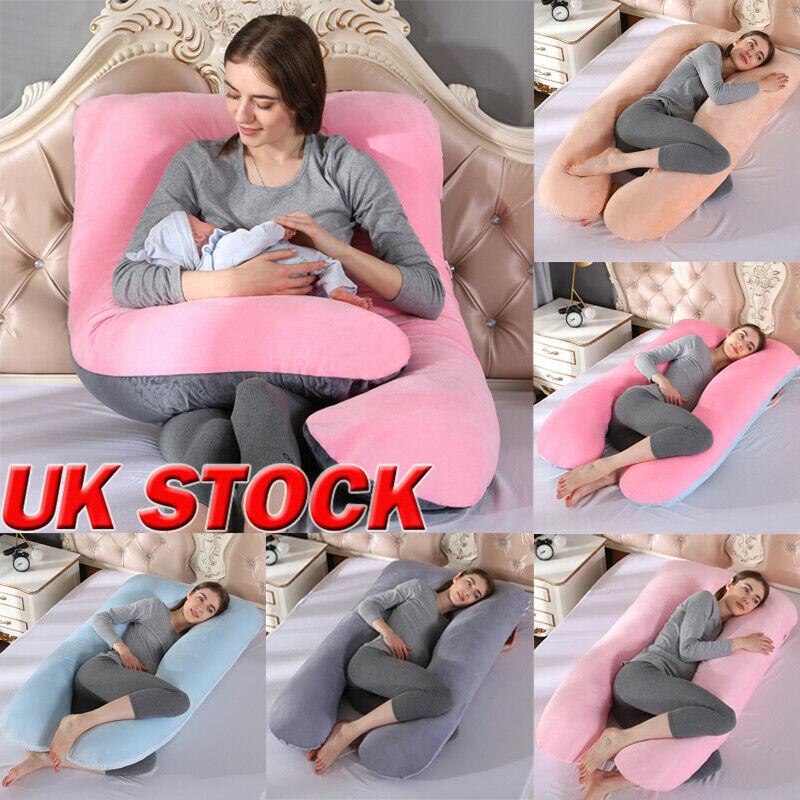 U Shape Maternity Pillow Pregnant Women Comfortable Soft Cushion Sleep Full Body