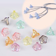 Colorful Acrylic petal Shape Loose Beads Jewelry Findings for handcraft 10x14mm DIY plastic Flower bead Accessory 100pcs
