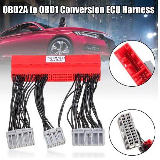 Honda için OBD2A to OBD1 tak ve çalıştır Jumper dönüşüm sürüş bilgisayar kablo demeti ihracat ürünleri