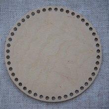 Conjunto de 3 peças de madeira bottomsround cesta crochê 20cm