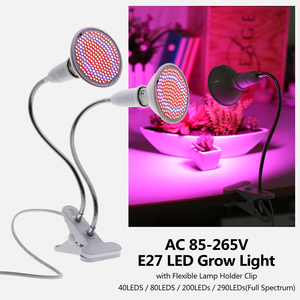 Image 2 - 220V Phytolamp E27 Full Spectrum LED Grow Light Flexible Metal Hose Clip on Growing Lights Indoor Phyto Lamps for Plants Flowers