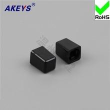 15PCS A121/Black with key switch/key switch hat high quality straight-button switch hat switch self-locking