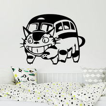 Children'S Room My Neighbour Totoro Cat Bus Wall Sticker Lovely Hollow Out Art Design Car Laptop Home Decoration Decal W709 death is now my neighbour