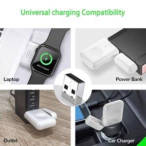 Image 5 - 【Upgraded】For Apple İzle kablosuz şarj, taşınabilir manyetik iWatch şarj açık seyahat için, Apple için İzle serisi 12345