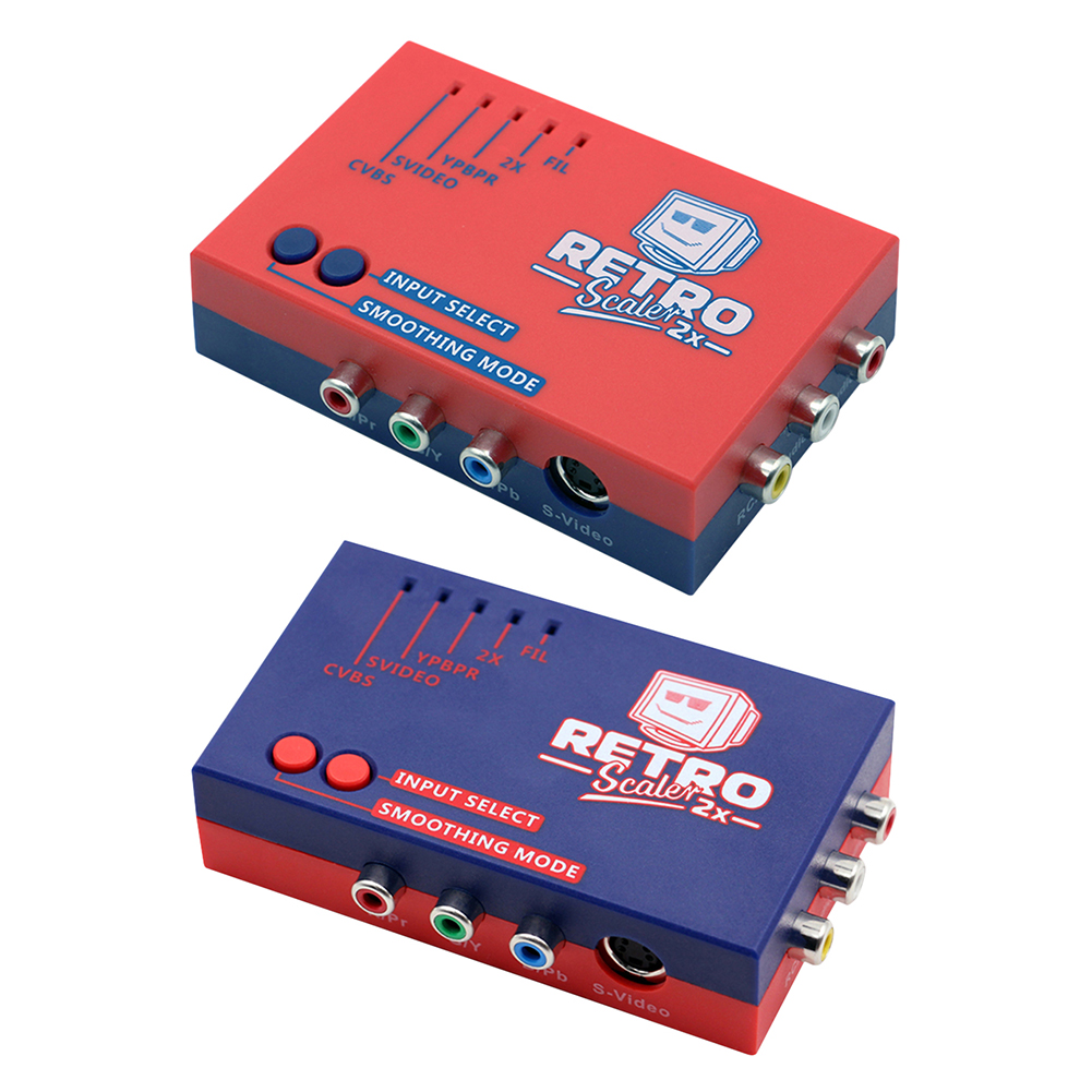 RetroScaler2x A/V to HDMI-compatible Converter and Line-doubler for PS2/N64/NES/Dreamcast/Saturn/MD1/MD2 Retro Game Consoles