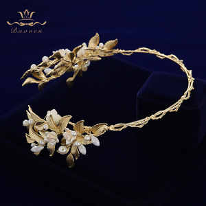 Image 3 - הבארוק כלה מצנפות כתרים אירופאי זהב הכלה Hairabnds Headpieces ריינסטון חתונת שיער אבזרים