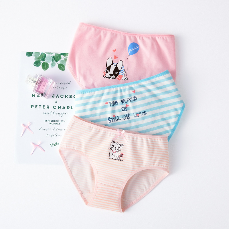 Girl Panties Underwear New Arrival Girls Boxer 2020 Teenage Striped Underpants 4 6 8 10 12 13 Years Children Clothes Kids Briefs