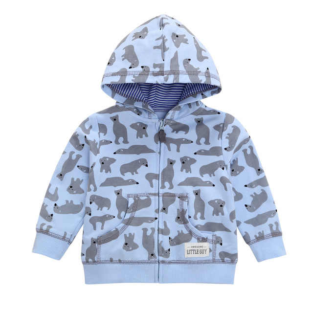 27kid Peuters Hoodies Jongens Meisjes Lente Jas Little Baby Baby Dinosuar Cartoon Hooded Kids Leuke Jongens Uitloper Sweatshirt