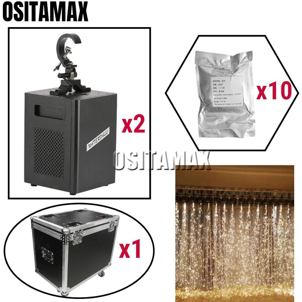 400 Вт Холодный фейерверк искра машина водопад эффект перевернутый фонтан пульт дистанционного управления или DMX пиротехника сверкающие