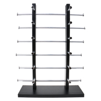 Wood Sunglass Glass Rack Frame Display Stand Holder Organizer Black 6 Layer