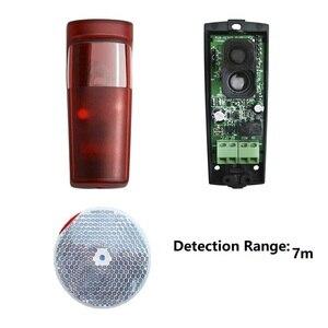 Image 5 - 5m 7m10m range Automated Gate Safe reflective Detector Sensor Swing Sliding Garage Gate Door Safety Infrared Photocells