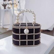 יהלומים סל ערב מצמד שקיות נשים 2019 יוקרה חלול החוצה Preal חרוזים מתכתי כלוב תיקי גבירותיי מסיבת חתונת ארנק
