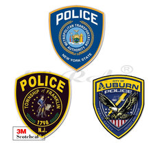 NEW YORK WA Police Badge Brand Car Sticker Windshield Bumper Motorcycle Helmet Decal High Quality KK Vinyl Cover Scratches PVC