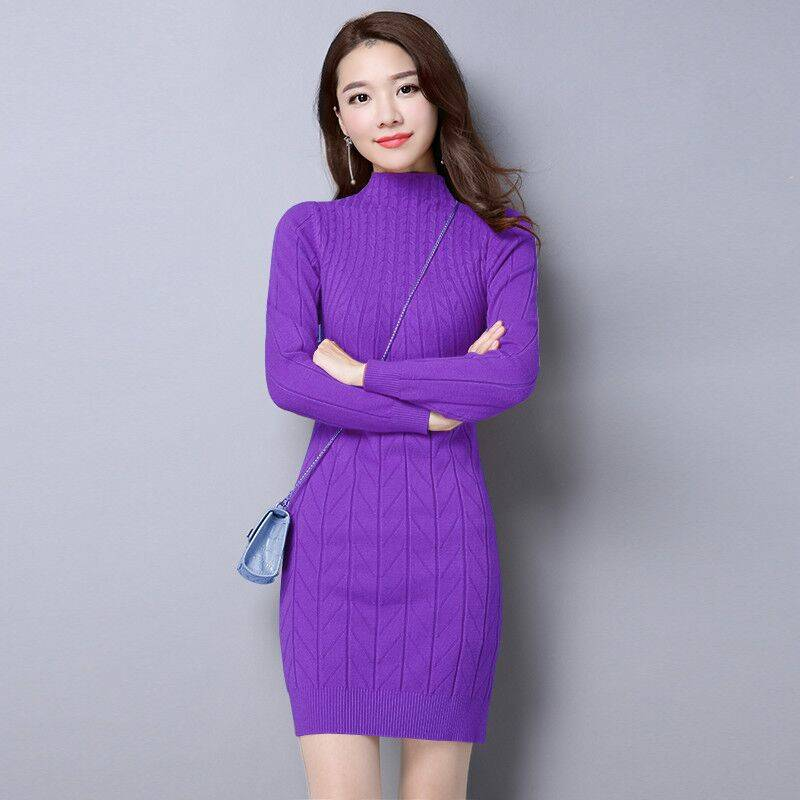 Autumn Winter Basic Long Pullovers Sweaters Women New Fashion 1