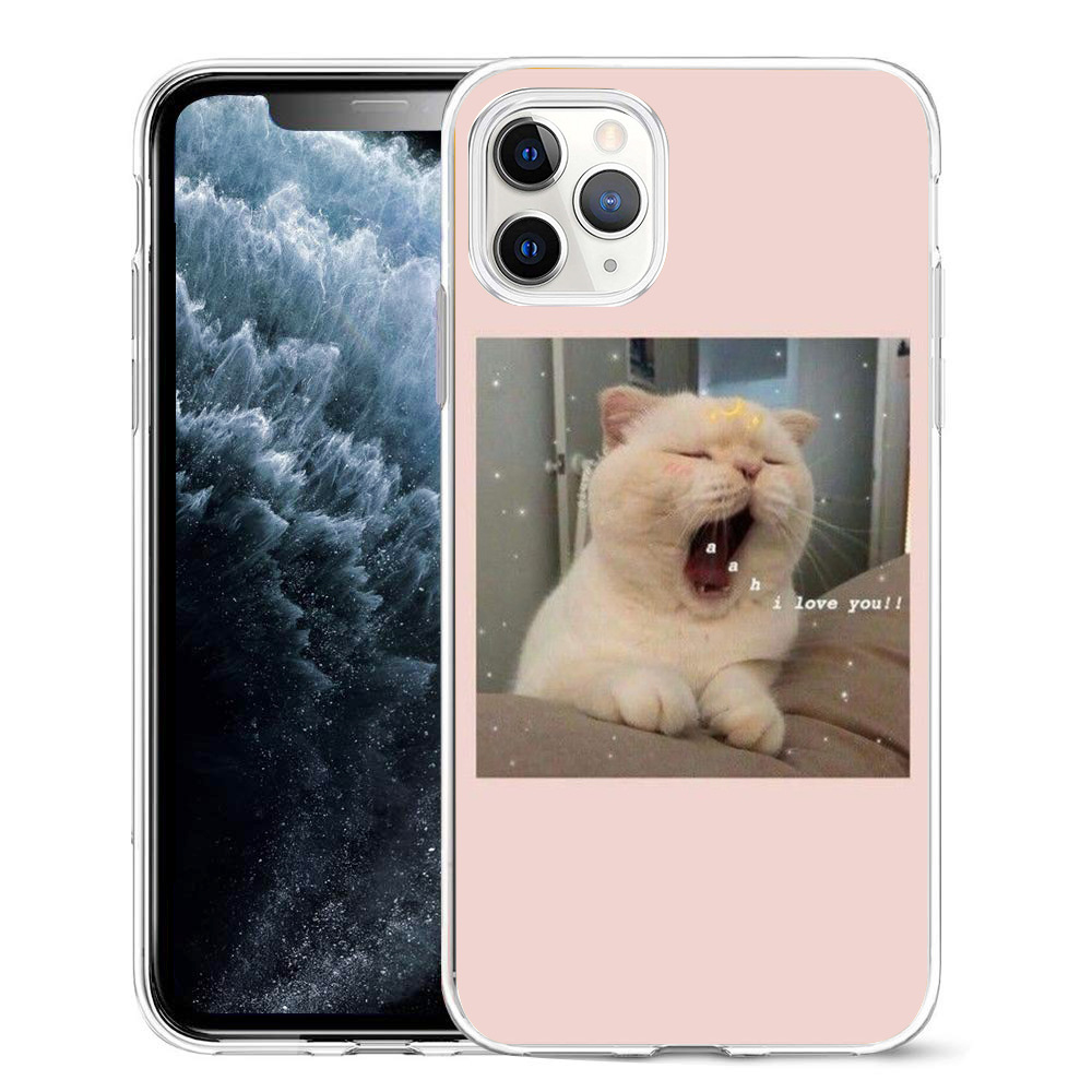 Super Cute Cats Printed Silicone Phone Case For iPhone 12