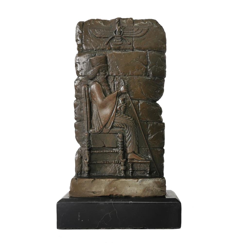 Bronze Metal Art Abstract Bronze Sculpture Zoroastrianism Religion Statue and Figurine Living Room Decoration