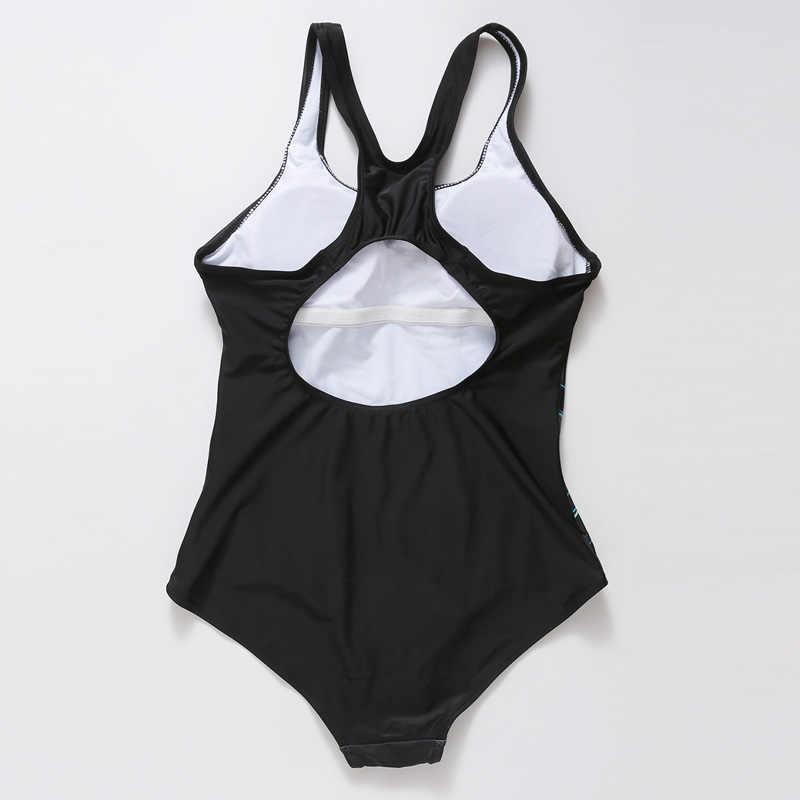 Riseado сдельный купальник 2019, спортивный купальник для женщин, купальный костюм с цифровой печатью, купальные костюмы с открытой спиной размера плюс XXXXL