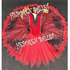 Image 2 - Aangepaste Zwart Rood Ballet Jurken, Don Quichot Rol Ballet Jurk Een Stuk Retail Groothandel