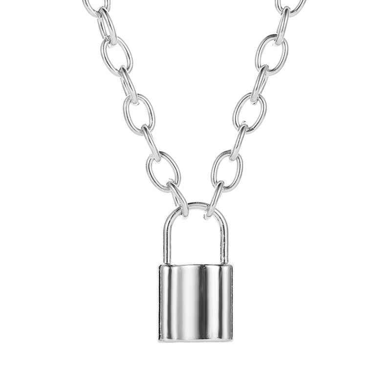2020 nowe złote kolorowy wisiorek naszyjniki dla kobiet długi księżyc blokada wisiorek naszyjniki koronki aksamitne Chokers modna biżuteria na prezent